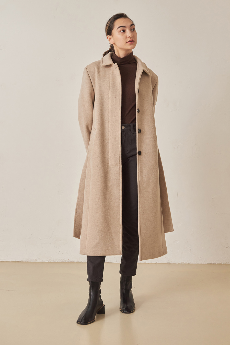 유라고 Land wool coat